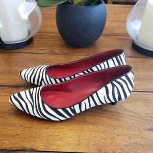 Shoes of Prey Zebra Print Calf Hair Heels